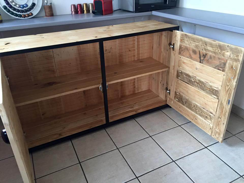 Pallet Wood Sideboard Kitchen Cabinets 101 Pallets