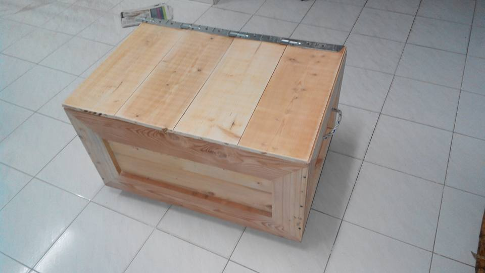 Toy box out of pallets 101 pallets for Toy pallets