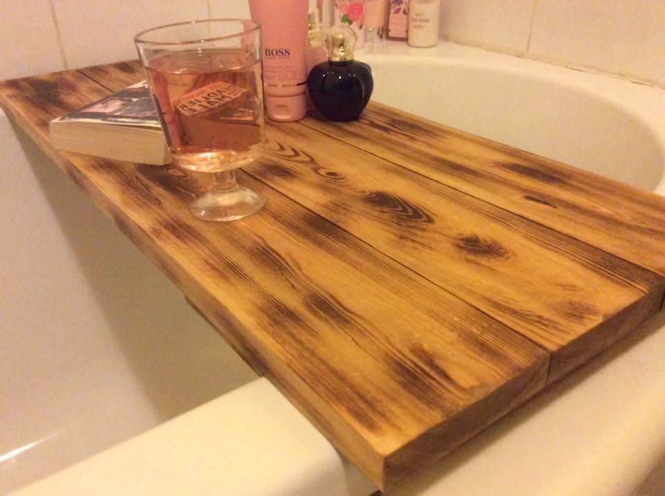Wooden Pallet Bath Tub Tray 101 Pallets