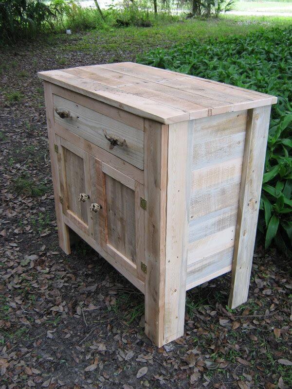Diy Wooden Pallet Sideboard Or Kitchen Cabinet