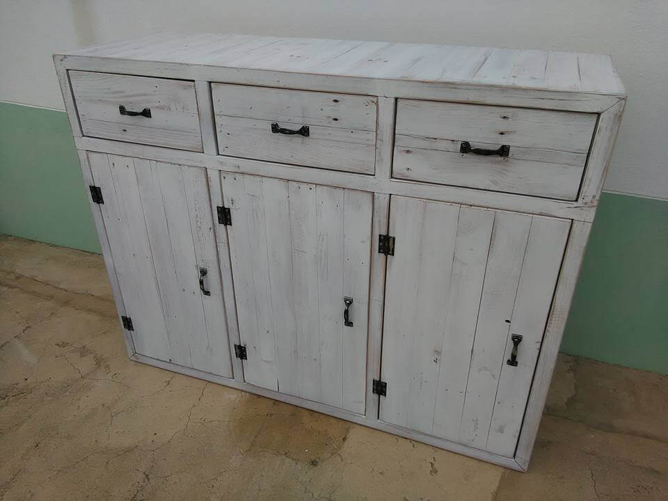 Pallet storage unit cabinets and drawers 101 pallets for Upcycled kitchen cabinets