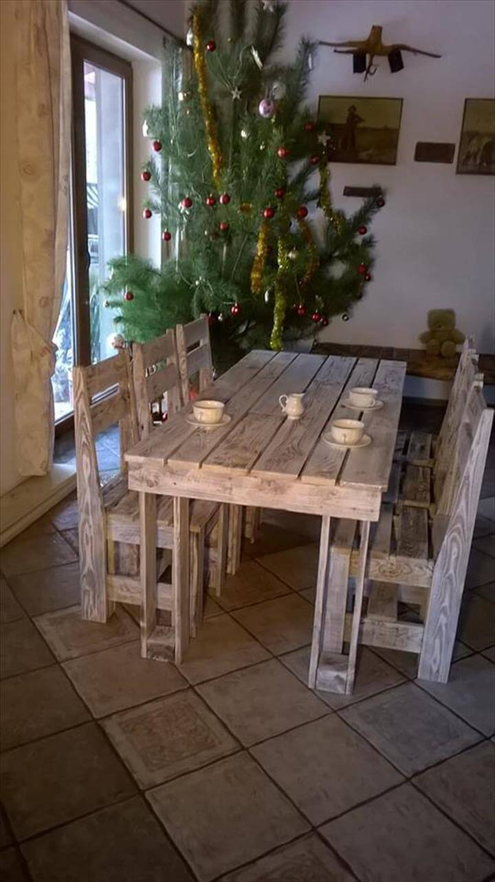 Wooden Pallet Dining Furniture Set 101 Pallets