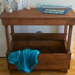Mini Pallet Console Table with Built-in Box