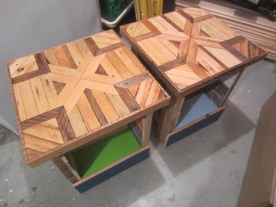 diy pallet mini tables