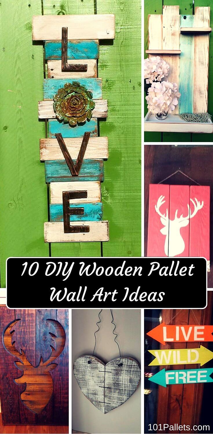 10 diy wooden pallet wall art ideas 101 pallets. Black Bedroom Furniture Sets. Home Design Ideas