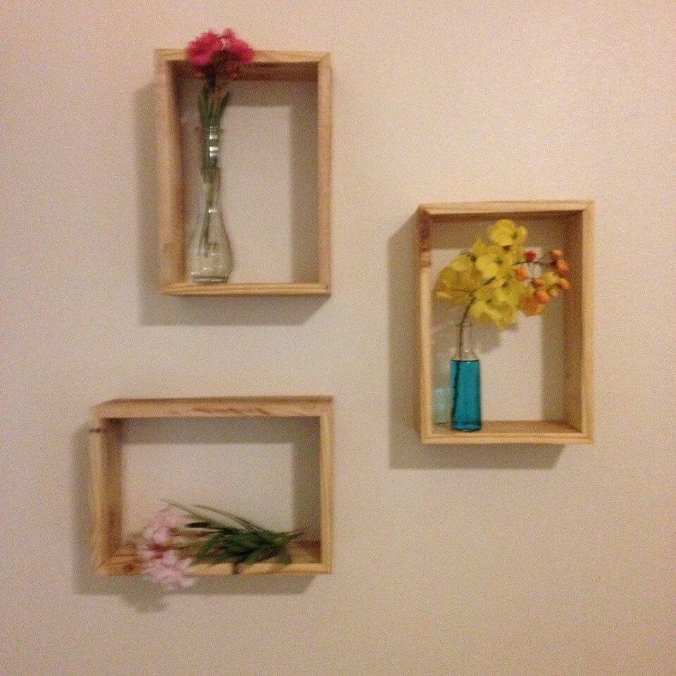 Pallets wood decorative shelf ideas 101 pallets - Decorative items for shelves ...