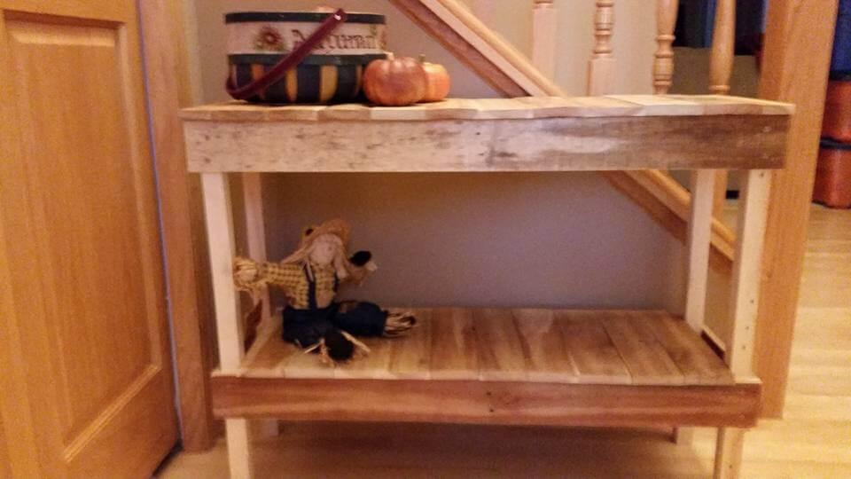 pallet console table