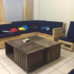 Crate Pallet Coffee Table + Pallet Sofa