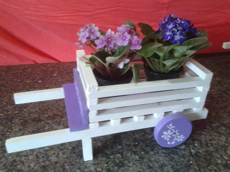 handmade pallet wheelbarrow