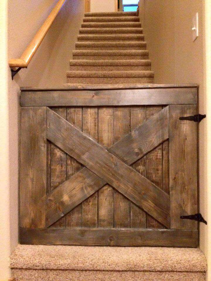 low-cost wooden baby gate