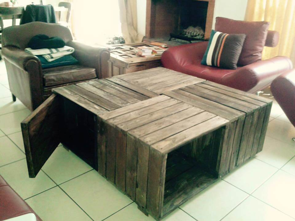 Crate Pallet Coffee Table Pallet Sofa 101 Pallets