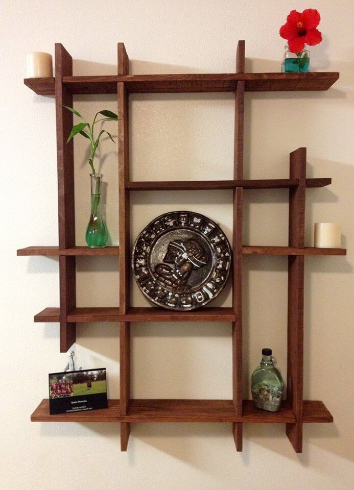 Pallets wood decorative shelf ideas 101 pallets - Shelves designs for home ...