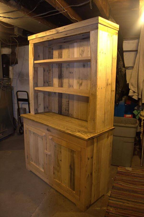 Wood Kitchen Hutch ~ Pallet wood kitchen hutch pallets