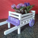 Colorful Pallet Wheelbarrow Planters