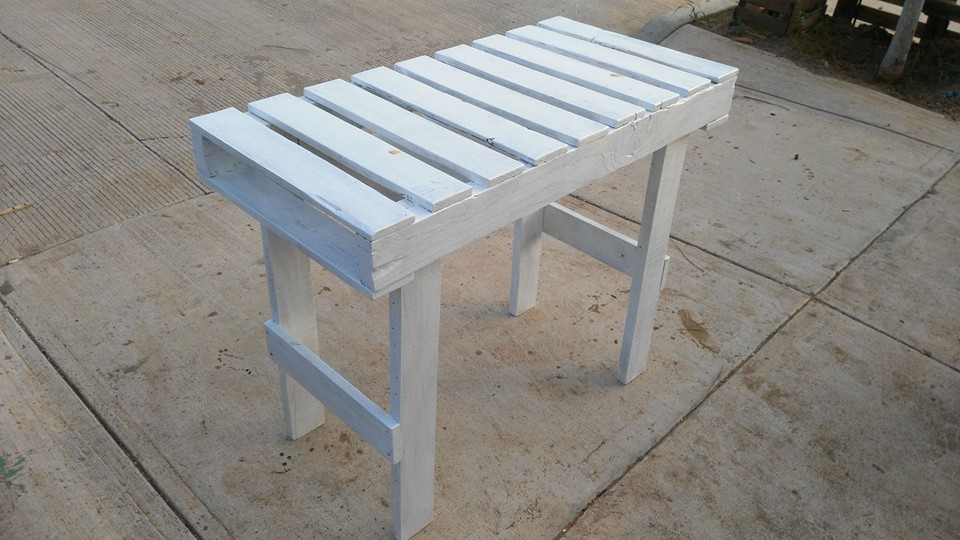 Diy computer desk made out of pallets 101 pallets for White painted pallets