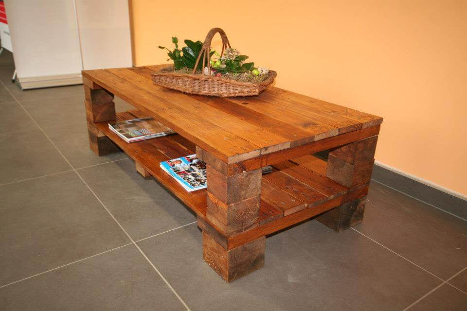 Beautiful Recycled Pallet Coffee Table 101 Pallets