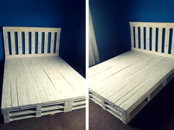 Pallet bed 101 pallets for Platform bed made from pallets