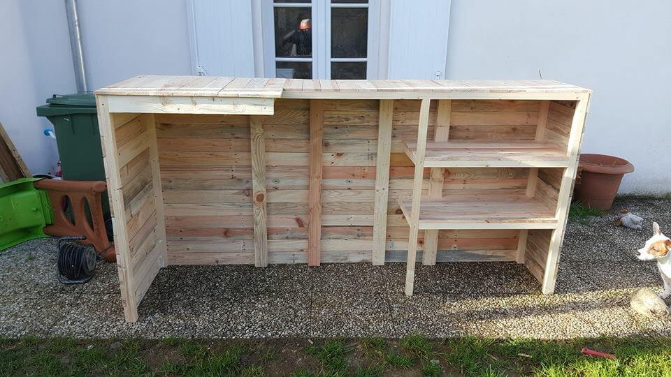 Diy Pallet Wood Bar 101 Pallets