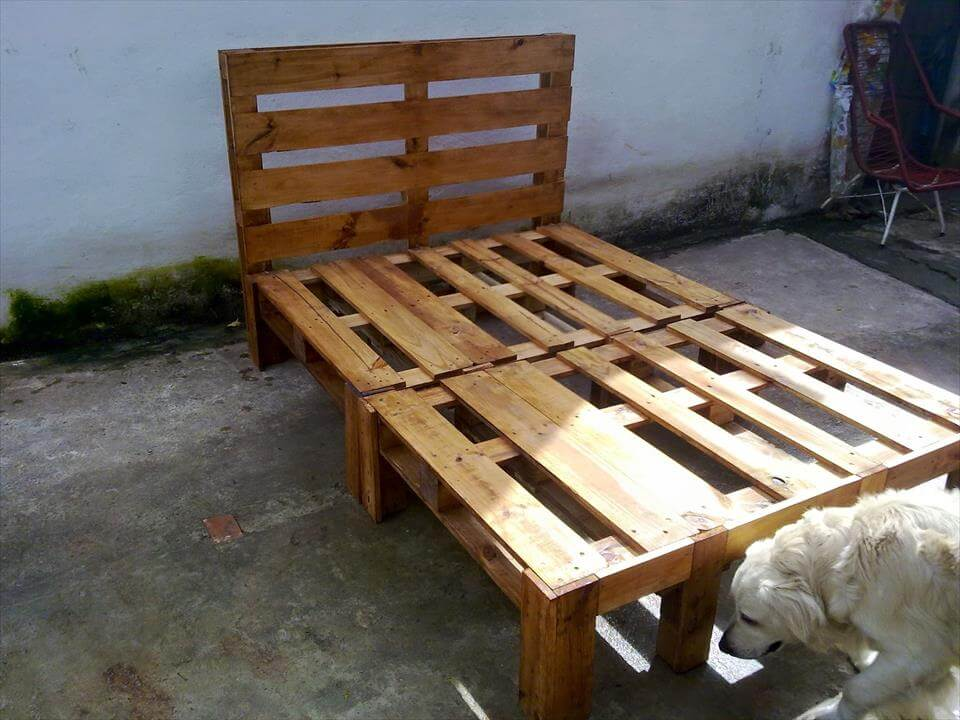 Diy Wooden Pallet Bed Design 101 Pallets
