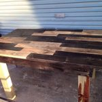 diy reclaimed wooden pallet dining table pallet garden dining table