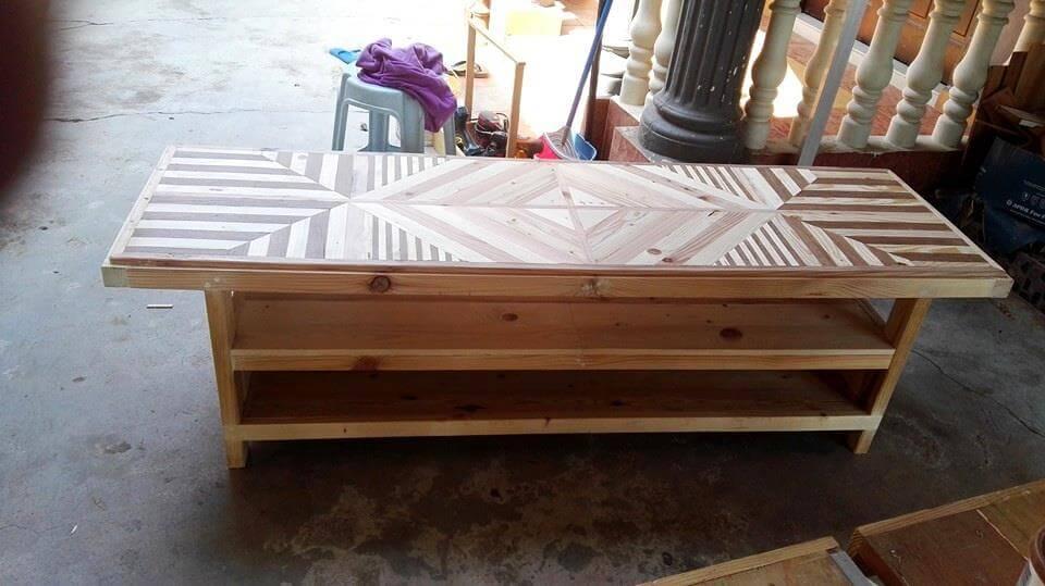 wooden pallet buffet table