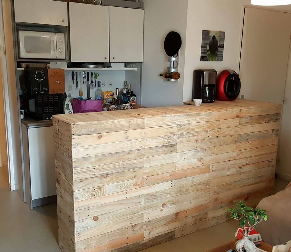 diy pallet wood bar 101 pallets. Black Bedroom Furniture Sets. Home Design Ideas