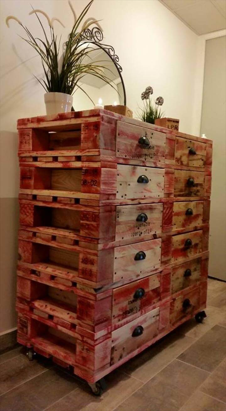 Pallet Dresser With12 Drawers 101 Pallets