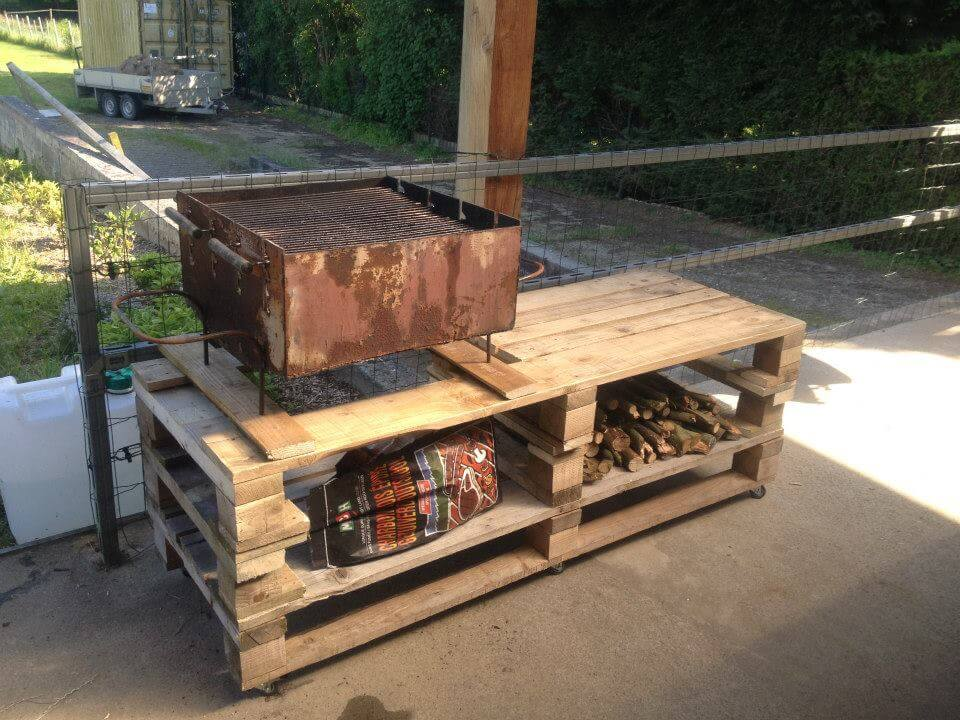 Wooden Pallet BBQ Grill Table | 101 Pallets