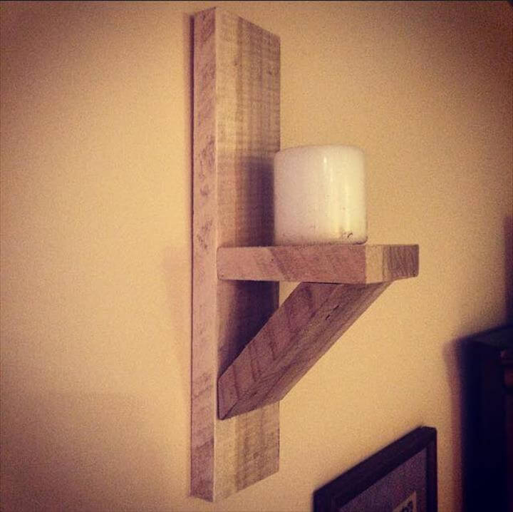 pallet candle sconce