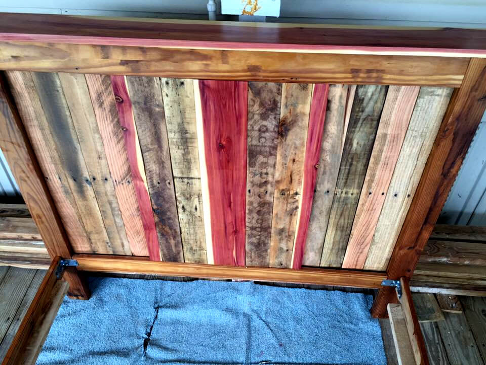 pallet full size bed frame