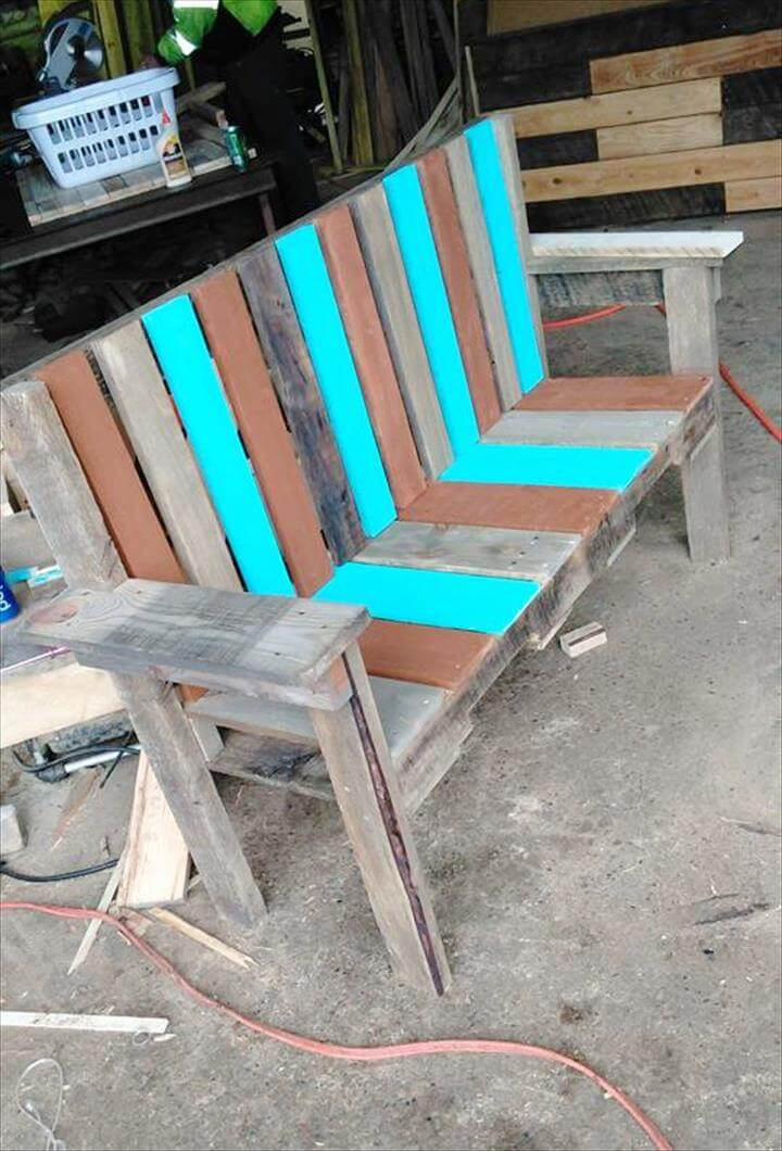 how to build a garden bench seat