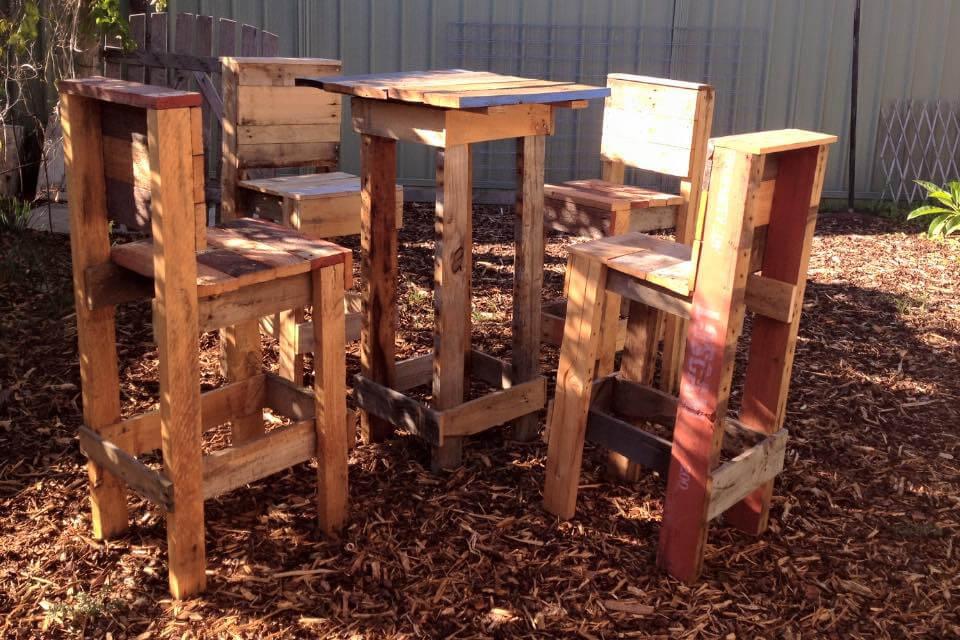 Rustic Pallet Outdoor Beverage Party Set