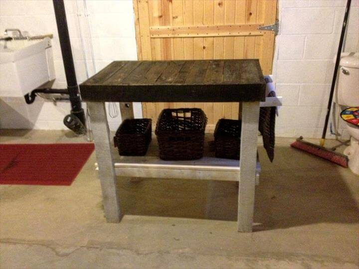 Pallets made kitchen island 101 pallets for Make a kitchen island out of pallets