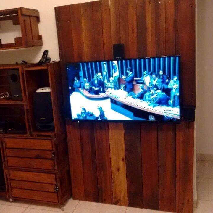 pallet tv panel