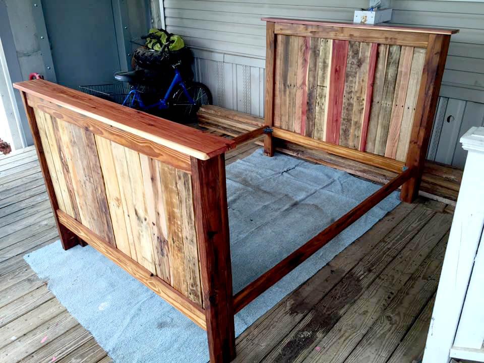 13 Inexpensive Wooden Pallet Bed Frame 101 Pallets