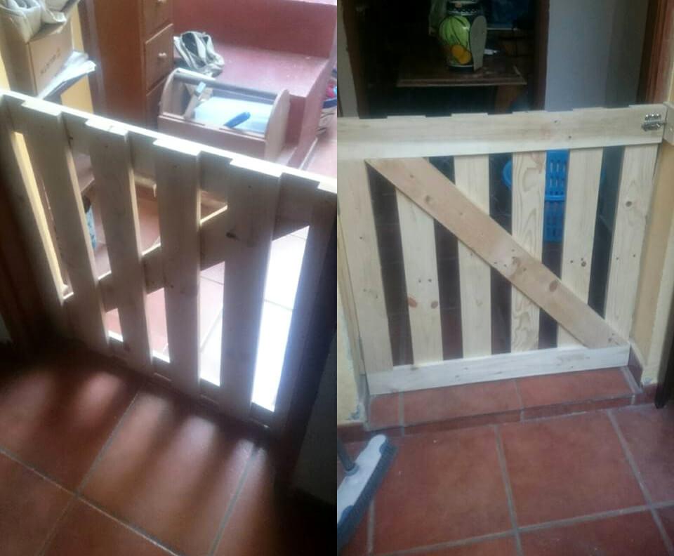 Wooden pallet gate