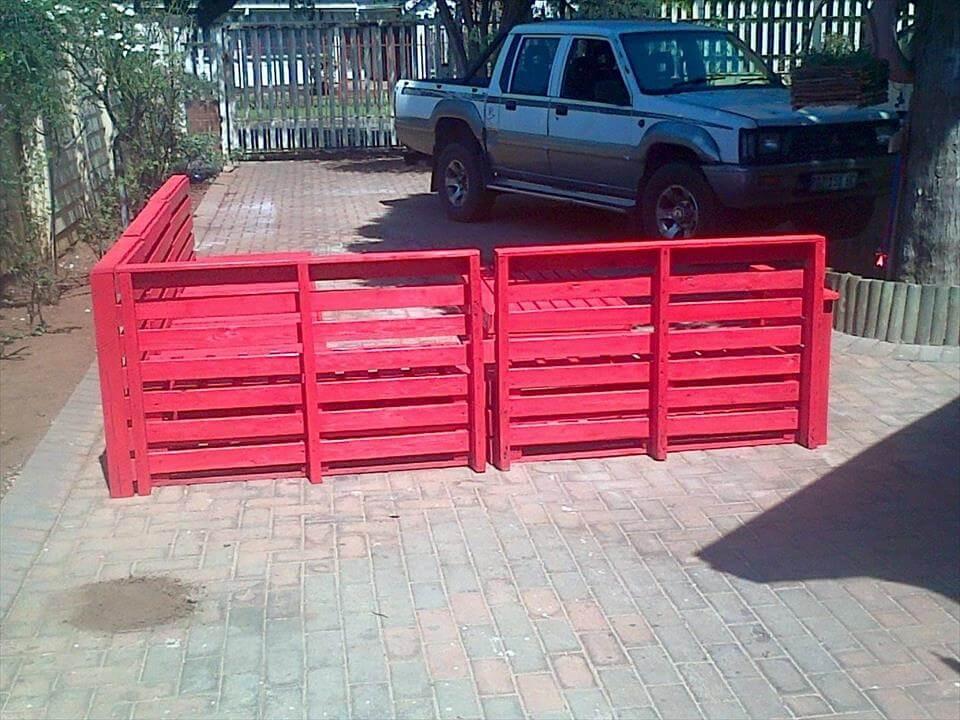 Wooden pallet patio furniture set