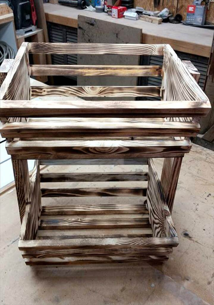 custom pallet kitchen fruit or vegetable organizer