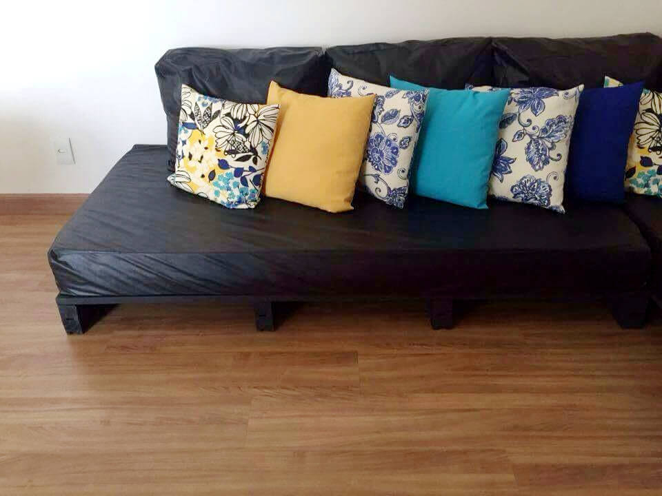 upcycled whole pallet sectional couch