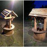 DIY Pallet Garden Wishing Well