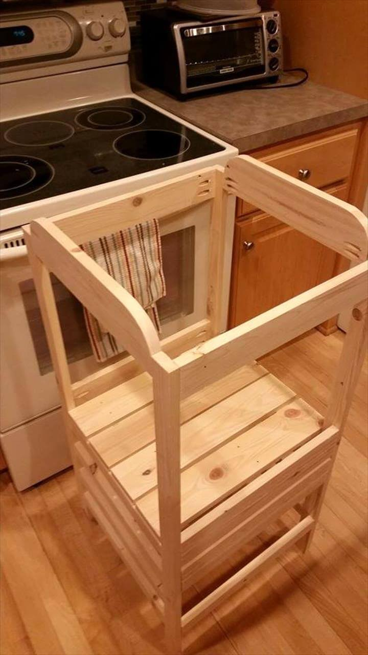 Pallet Adjustable Kitchen Stand For Kids 101 Pallets