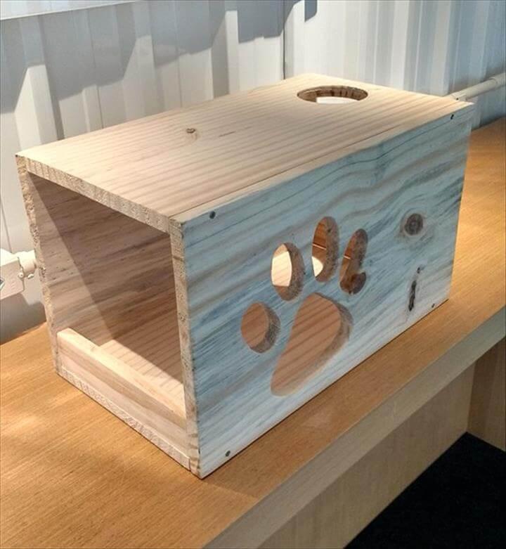 DIY Pallet Cat House | 101 Pallets
