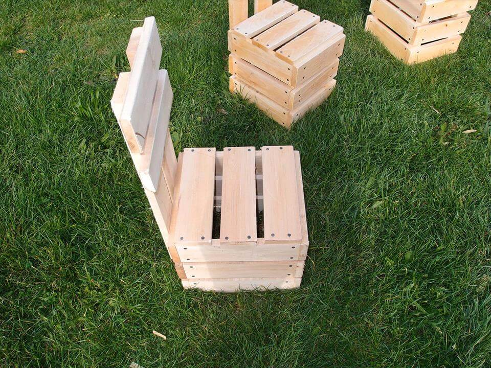pallet fire-pit chair set