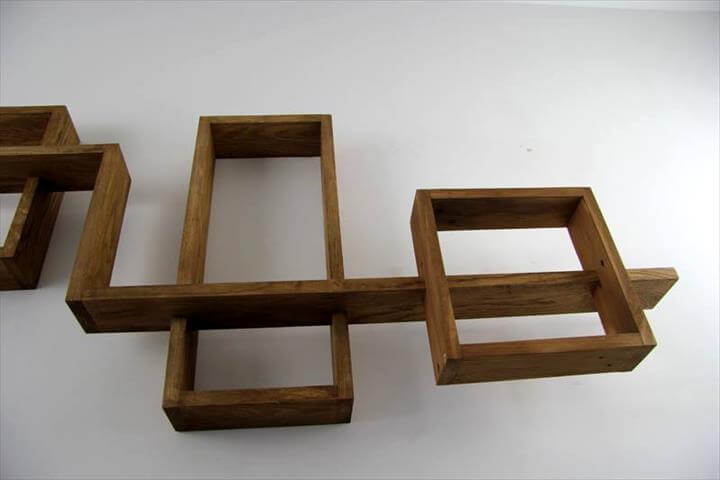 Pallet Wood Wall Display Shelves | 101 Pallets