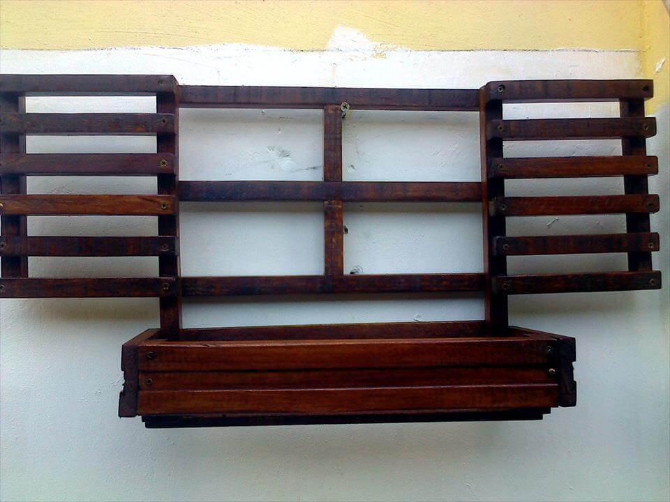 custom wooden pallet wall hanging window planter