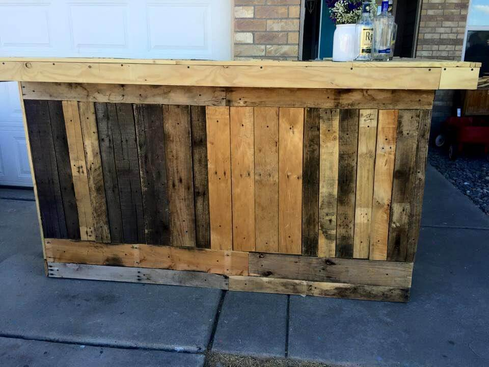 Diy pallet bar plans the image kid has it for Diy bar plans free