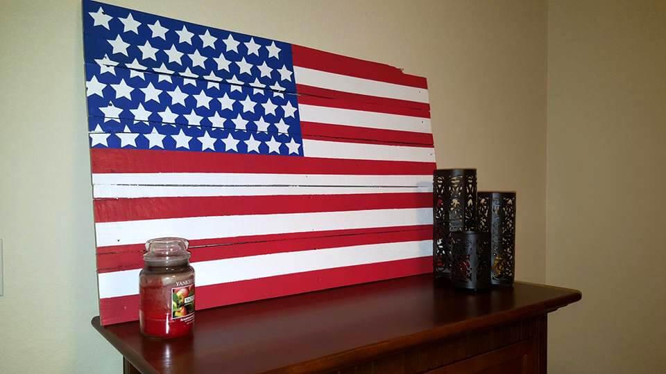 wooden pallet custom country flag wall art