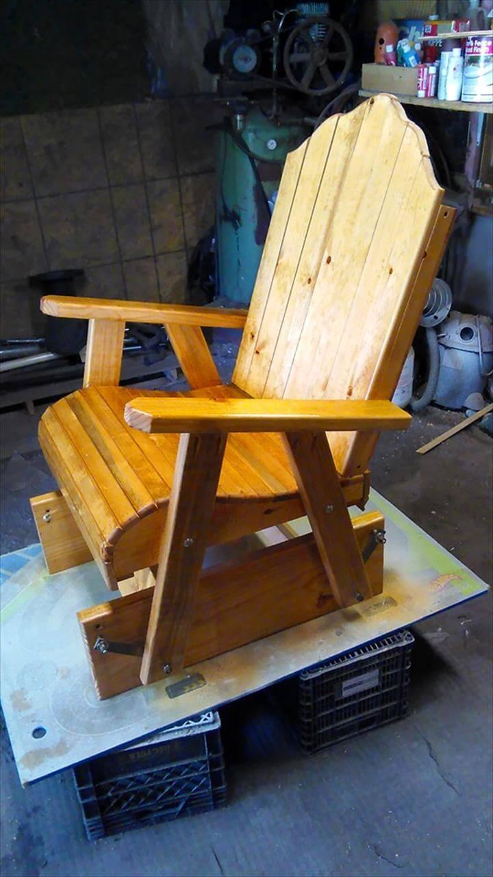 pallet glider chair