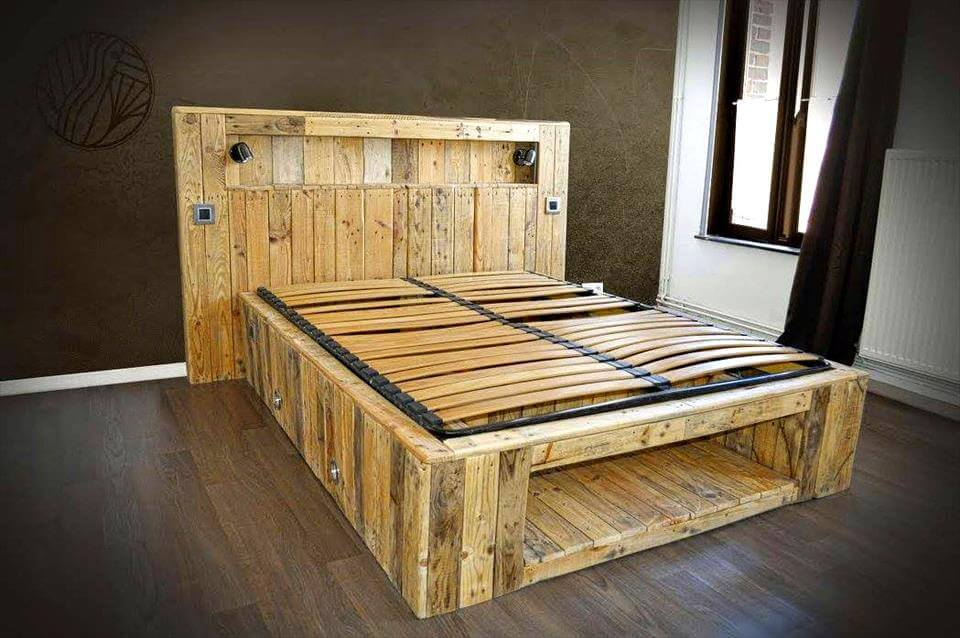 amazing pallet furniture projects for home 101 pallets. Black Bedroom Furniture Sets. Home Design Ideas