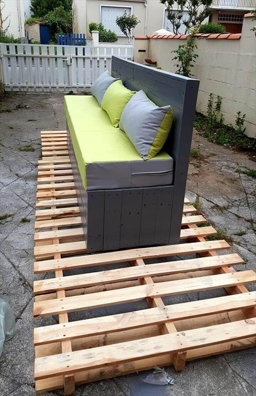 custom painted pallet garden 3 seater